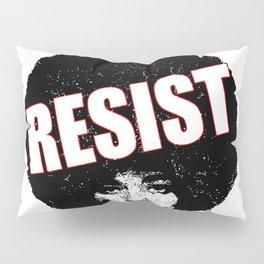 Angela Davis - Resist (black version) Pillow Sham