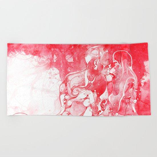 Love Is Red Beach Towel