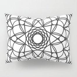 Black Mandala Pillow Sham