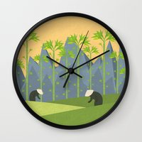 vietnam Wall Clocks featuring Vietnam by Imagonarium