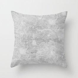 Gray Concrete Throw Pillow
