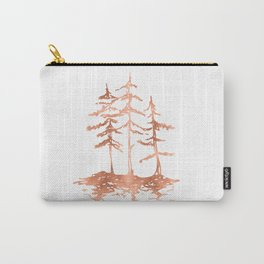 Three Sisters Trees Rose Gold on White Carry-All Pouch