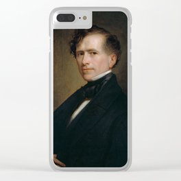 President Franklin Pierce Painting - George Healy Clear iPhone Case