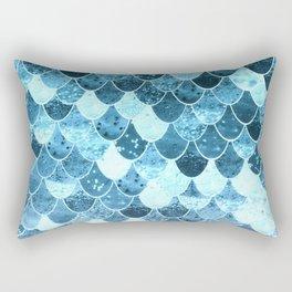 REALLY MERMAID SILVER BLUE Rectangular Pillow