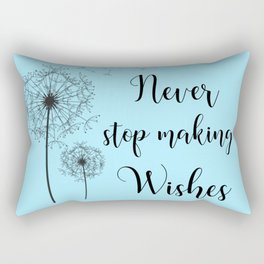 Never Stop Making Wishes Rectangular Pillow