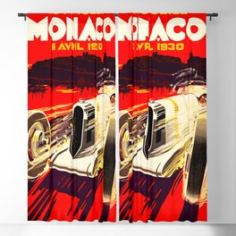 Monaco Grand Prix 1930 Blackout Curtain