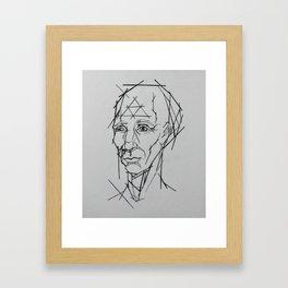 Mr. Linear Framed Art Print