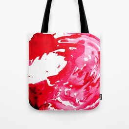 The One Who Came by Water and Blood. Watercolor Red Wave Tote Bag