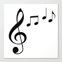 music notes Canvas Prints featuring Music Notes! by  ImagineGallery