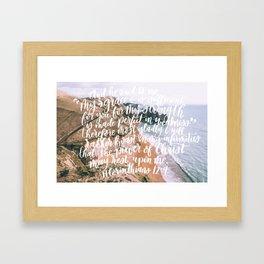 2 Corinthians 12:9 Grace is Sufficient Framed Art Print