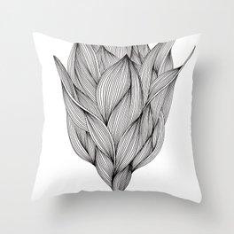 Luchtbloem Throw Pillow
