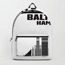 Baltimore Hampden Maryland Skyline Backpack