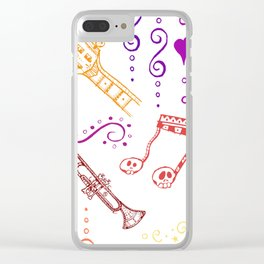 Musical Halloween Clear iPhone Case
