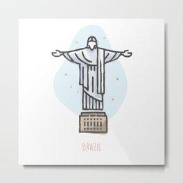 Brazil - Christ the Redeemer Metal Print