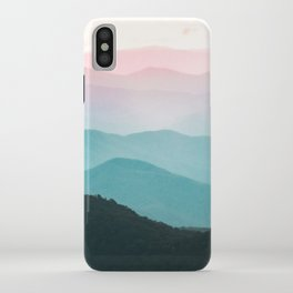 Smoky Mountain National Park Sunset Layers III - Nature Photography iPhone Case