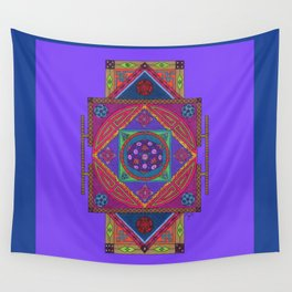 Just Another Roll of the Dice (Blue) Wall Tapestry