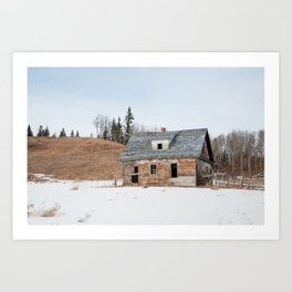 Usona Farm-house 3 Art Print