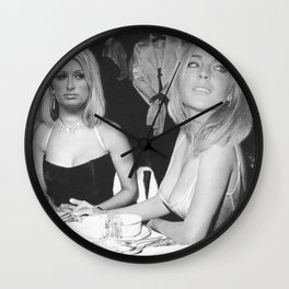 FEUD: Paris and Lindsay Wall Clock