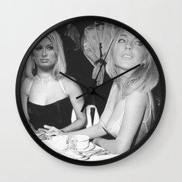 FEUD: Paris and Lindsay Wall Clock