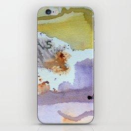 watercolor monoprint iPhone Skin