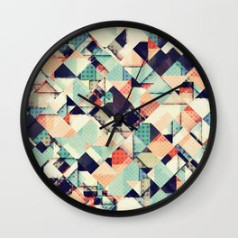 Jumble of Colors And Texture Wall Clock