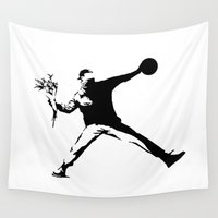 banksy Wall Tapestries featuring #TheJumpmanSeries, Banksy by @thepeteyrich