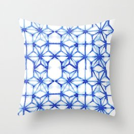 Abstract geometric star Throw Pillow