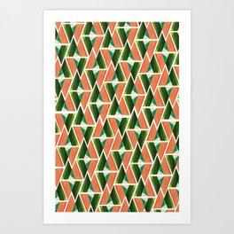 WTU PATTERN PRINT 2 Art Print
