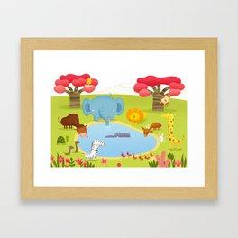 Sabana Framed Art Print