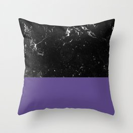 Ultra Violet Meets Black Marble #1 #decor #art #society6 Throw Pillow