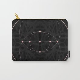 sacred geometry 02 on subtle background // black & pink Carry-All Pouch