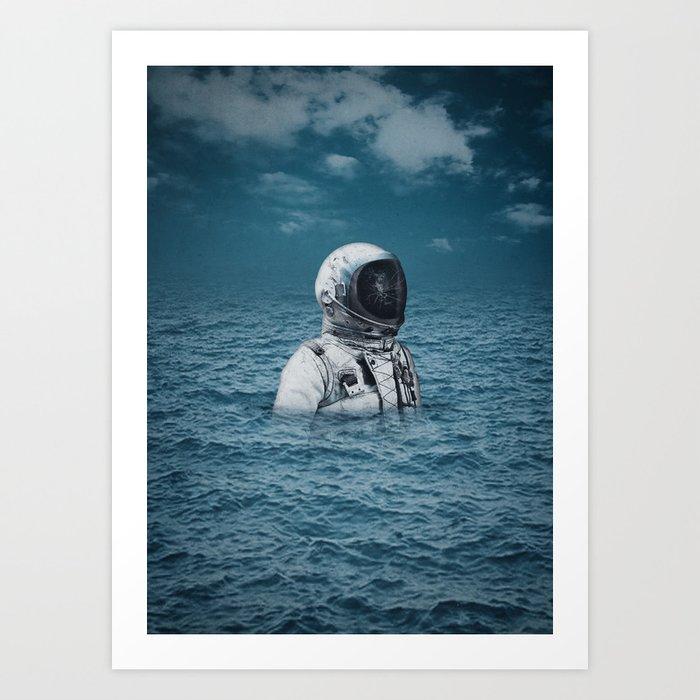 Lost At Sea Art Print By Seamless Society6