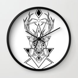 Geometry Deer Wall Clock