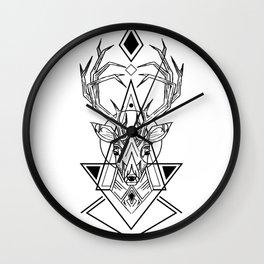 Geometry Deer Wall Clock