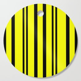 NEON YELLOW AND BLACK THIN AND THICK STRIPES Cutting Board