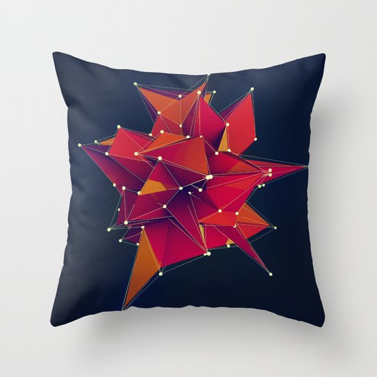 Architecture Polygons Throw Pillow