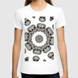 Creepy Human Skull Mandala T-shirt