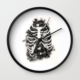 Space inbetween the ribs Wall Clock