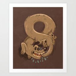 Chase Your Tail Forever Art Print