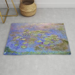 Water Lillies - Claude Monet (indigo blue) Rug