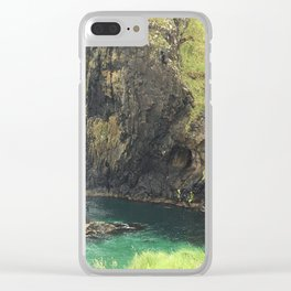 View From Carrick Rope Bridge Clear iPhone Case