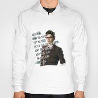 david tennant Hoodies featuring DON'T BLINK! David Tennant - Doctor Who by KanaHyde