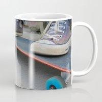 skateboard Mugs featuring Skateboard by Mechanical Kayla