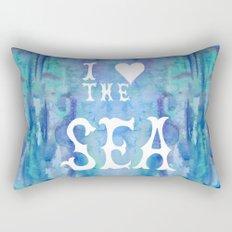I Love the Sea 2 Rectangular Pillow