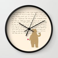writing Wall Clocks featuring Writing by Sarinya  Withaya