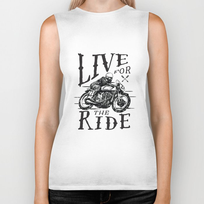 Live for the Ride Biker Tank