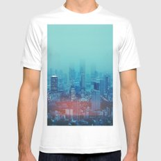 Nightcity White Mens Fitted Tee MEDIUM