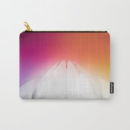Lotus Flower Symmetry Perfection under the Rainbow at Lotus Temple in India Carry-All Pouch