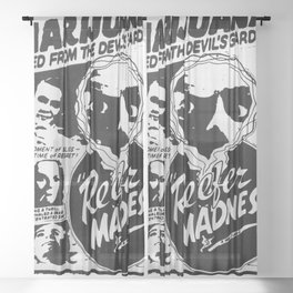 Reefer Madness Sheer Curtain