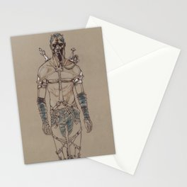 Post Apocalyptic Warrior Stationery Cards